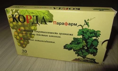 Похмелье вызывается приемом спиртного (нередко приготовленного из винограда), то и антипохмельное средство может содержать тот же компонент например Корда