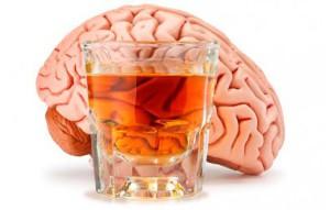 мозг и стакан