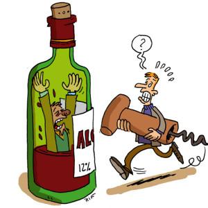 алкоголик утонул в бутылке