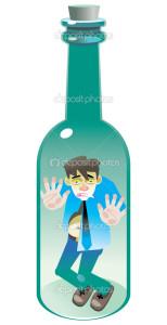 человек в бутылке