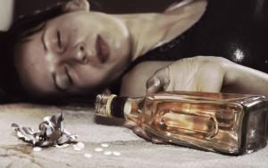 смертельно пьяная женщина