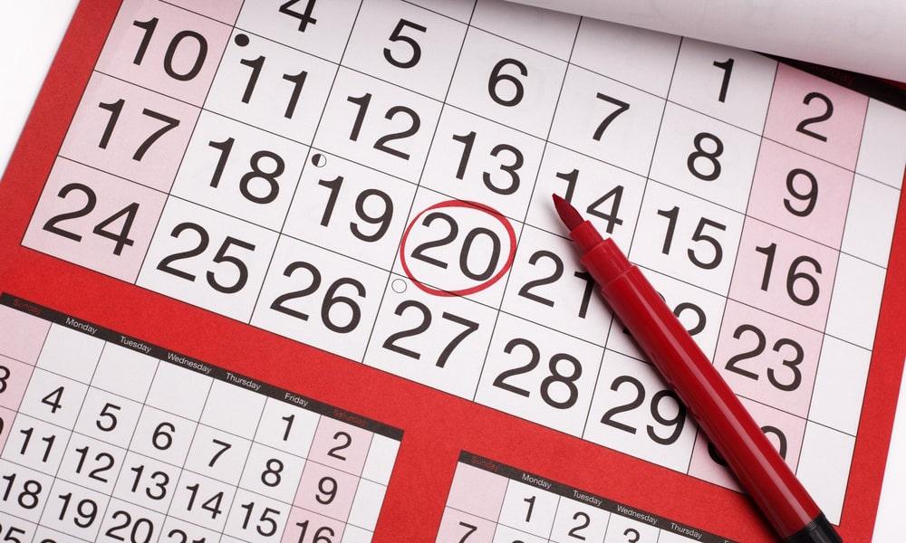 Тобой, картинки с датами календаря