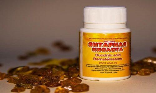 Совместный прием янтарной кислоты с антибактериальными, противовоспалительными, противотуберкулезными медикаментами и витаминными комплексами усиливает их действие