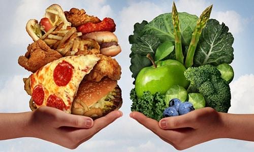 Исключите из рациона продукты содержащие много жиров и подключите свежие фрукты, овощи и сложные углеводы