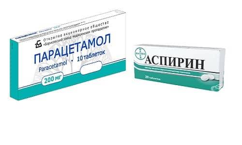 Аспирин и Парацетамол применяются в качестве жаропонижающих средств