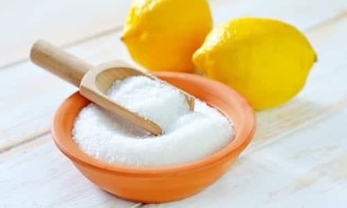 Лимонная кислота способствует выведению токсинов, придает приятный вкус, помогает снизить интоксикацию
