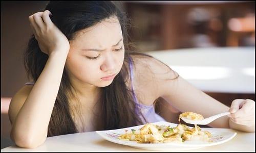 В случае передозировки препаратом может возникнуть отсутствие аппетита