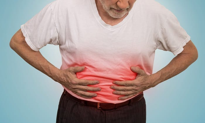 Гептор Н может вызывать боль в животе
