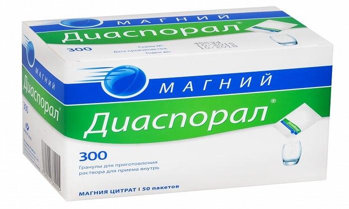Диаспорал 300 можно использовать вместо Магнезиума цитрата