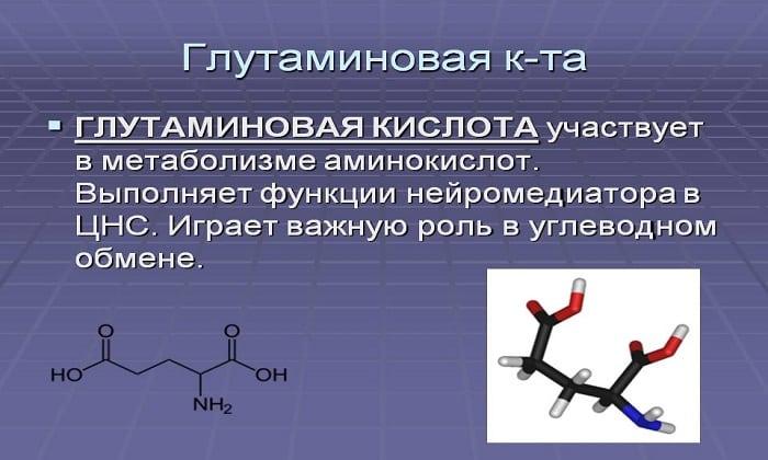 Глутаминовая кислота входит в состав препарата