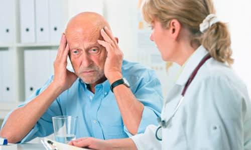 В список патологий, ограничивающих прием средства, входит деменция - снижение мыслительных способностей, которое проявляется в пожилом возрасте