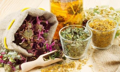 Можно сочетать препарат с лекарственными травами
