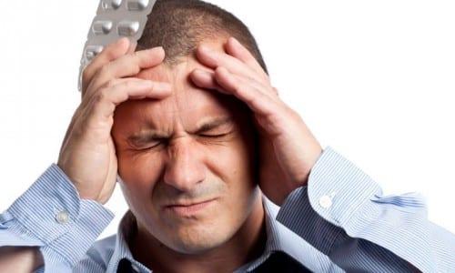 Применение средства может дать побочные действия в виде головной боли, головокружения