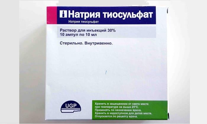 Тиосульфат натрия внутривенно в гинекологии