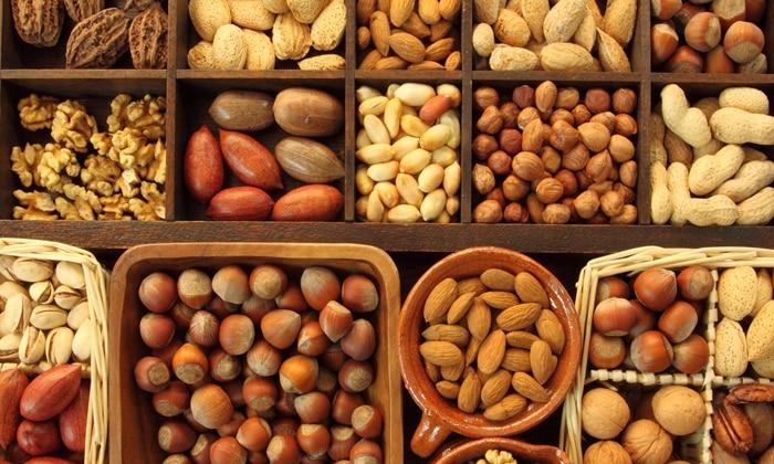 ГАМК содержиться в орехах
