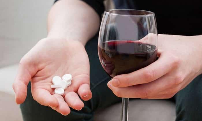 Прием вещества с алкоголем недопустим