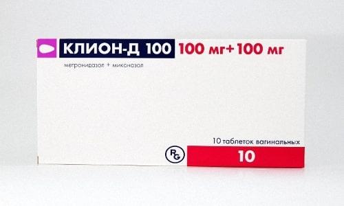Клион-Д 100 - лекарство комбинированного характера, которое совмещает в себе противомикробные и противогрибковые свойства
