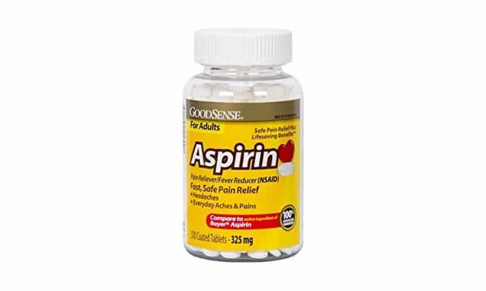 Аспирин продается в таблетках. Активный компонент в составе - ацетилсалициловая кислота