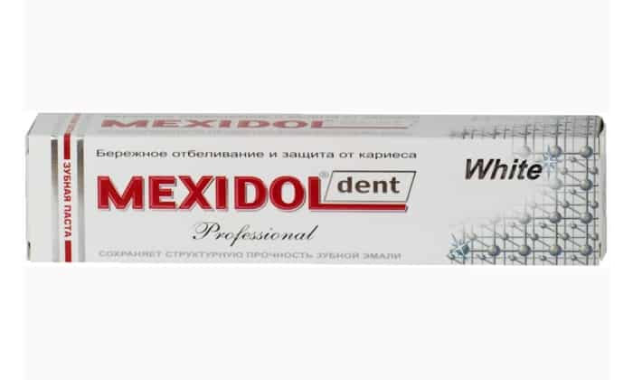 Паста Дент Профессионал Вайт имеет насыщенный состав. Она содержит: папаин, экстракт солодки, пирофосфаты, гидроксиапатит и цитрат кальция