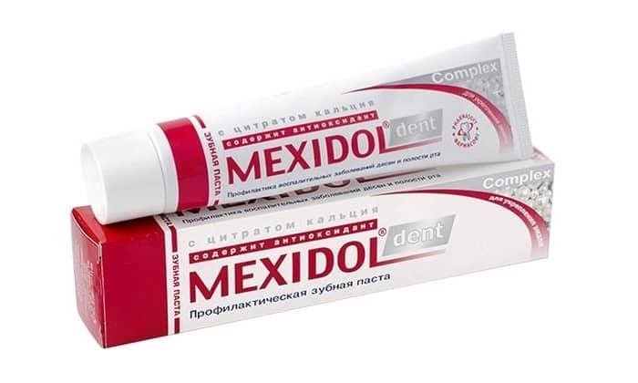 Описание зубной пасты Мексидол