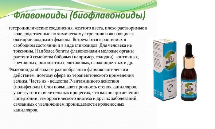 Препарат состоит из растительных флавоноидов